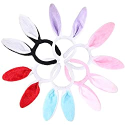 Candygirl Plush Bunny Ears Hairbands Cute Rabbit Ears Headband for Easter Costume Party Decoration Dress Up by Yiwu Omer Accessories Co., Ltd.
