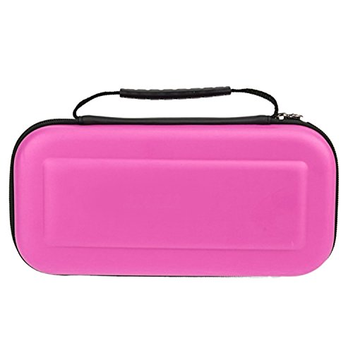 Tasche für Nintendo Switch,Sopear Hard Portable Travel Carrying Protective Storage EVA Case Bag Shell Sleeve Cover for Nintendo Switch Cables Game Card Accessories Blau