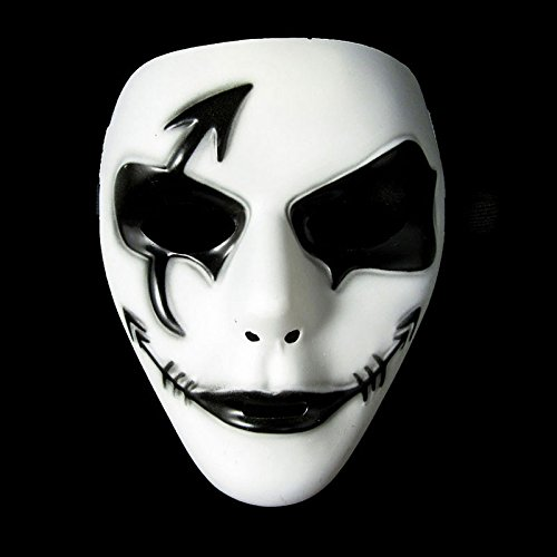 Kostüm Jabbawockeez (LQZ neutrale maske weiß Jabbawockeez Maske Halloween Karneval Cosplay Maskerade)