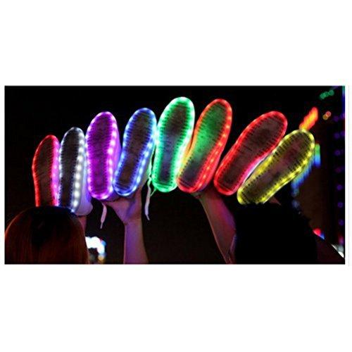 [Présents:petite serviette]JUNGLEST® de Couleur Mode Unisexe Homme Femme USB Charge LED Lumière Lumineux Clignotants Chaussures d Noir