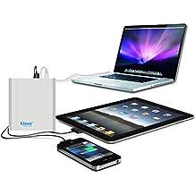 Lizone® Extra Pro 26000mAh súper capacidad Power Bank Batería Externa Cargador Portátil para Apple MacBook, Notebooks Dell, HP, Lenovo,IBM,tabletas,Móviles,Smartphones y Más -Aluminio