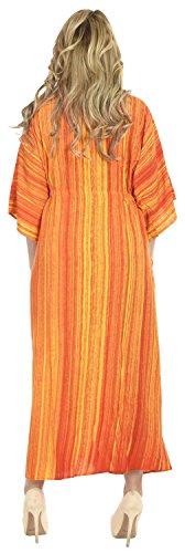 La Leela Ono la Leela Rayon Strand tragen Nacht Frauenkleid Kaftan langen Kaftan Kleid tragen Herb-Orange