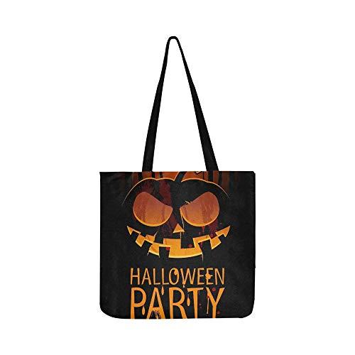 Halloween Party Design Vorlage Kürbis Ort Leinwand Tote Handtasche Umhängetasche Crossbody Taschen Geldbörsen Für Männer Und Frauen Einkaufstasche (Disco Dark Halloween)