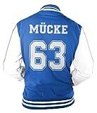 Herren College Jacke Mücke Buddy Movie Star Film, 63 Baseballjacke