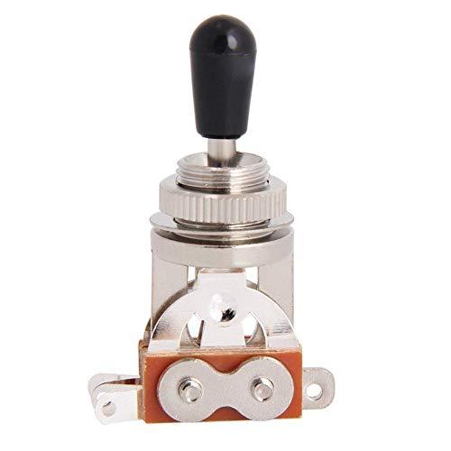 Navigatee Schalter für Gitarrenschalter, 3-Wege-Kippschalter Pickup-Wahlschalter Metall mit TIPP-Knopf E-Gitarre 3-Gang-Schalter SG 3-Gang-Tonumschaltung