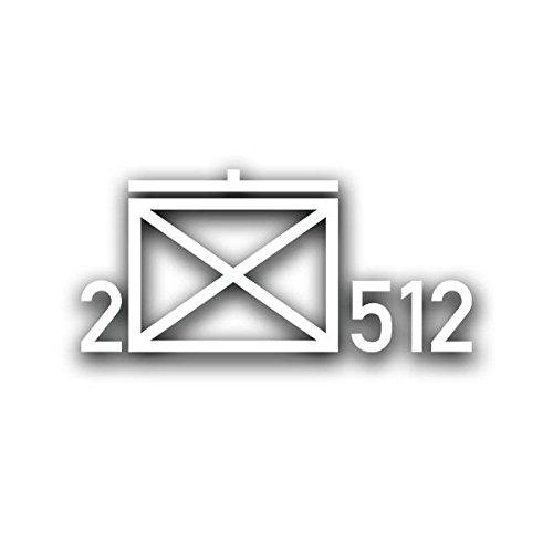 2 JgBtl 512 Taktische Zeichen Aufkleber Bundeswehr Jäger-Bataillon Sticker 15x6cm #A4405 -
