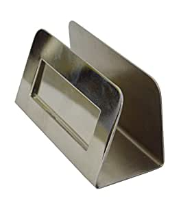 AVS STORE® Stainless Steel Business Card Holder Stainless Steel Satin Finish Patented Luxury Desk Accessory Business Name Card Stand Case Office Organizer