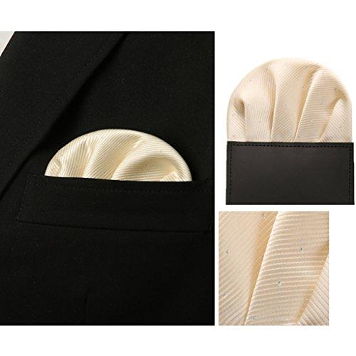ZJM Mouchoir Enfichable Directes Carrée De Poche Costumes Pour Hommes Affaires Mariage 14 Couleurs Au Choix carrée Hanky ( Couleur : #03 ) #06