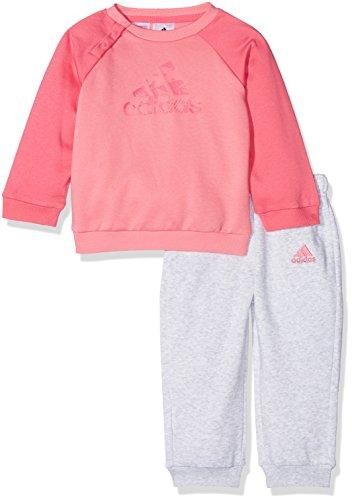 adidas I E Logo Jog Fl Chándal, Unisex Niños, Rosa (Rostiz/Rosa/Bayint), 98 (2/3 Años)