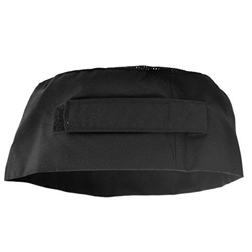 PIXNOR Chefs sombrero cráneo superior de malla transpirable Catering tapa con correa ajustable - única talla (negro)