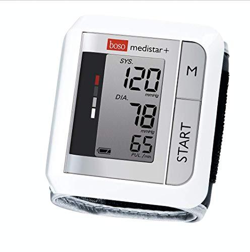 boso medistar+ - Handgelenk Blutdruckmessgerät mit Speicher für 90 Messungen, extra großem Display und Arrhythmie-Erkennung - Inkl. Handgelenkmanschette (13,5-21,5 cm)