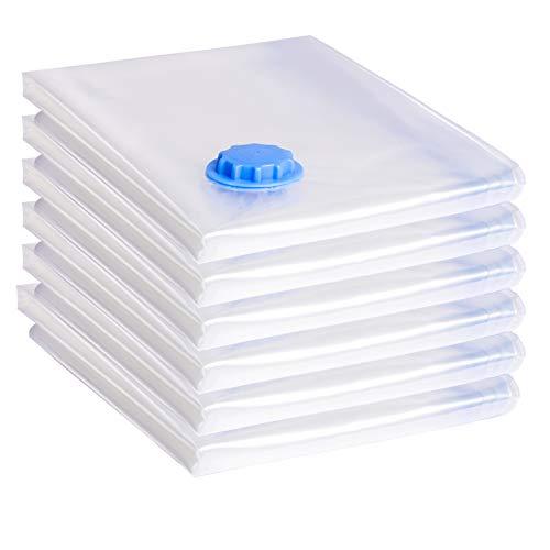 WOLTU Vakuumbeutel Aufbewahrung Kleiderbeutel Aufbewahrungsbeutel für Betten Kleidung Kissen Reise 6er 80 * 100 cm VB002Q6