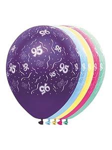 Folat 19036 - Globos de fiesta de 95 años, 5 unidades, multicolor