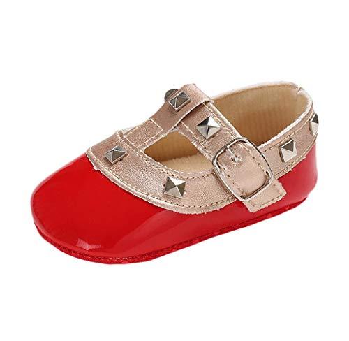 Babyschuhe Neugeborenen Mädchen Leder T-Strap Schuhe Prinzessin Party Schuhe Krippeschuhe Krabbelschuhe