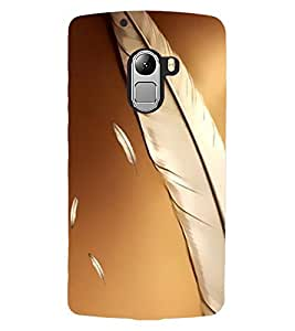 ColourCraft Lovely Feathers Design Back Case Cover for LENOVO VIBE X3 LITE