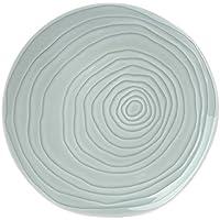 878c17f2f4f42a Pillivuyt - Lot de 4 assiette porcelaine plates d26,5 cm TECK BLEU CLAIR -