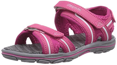 Kappa BREEZY K, Unisex-Kinder Knöchelriemchen Sandalen, Pink (2210 PINK/WHITE), 35 EU (2.5 Kinder UK)