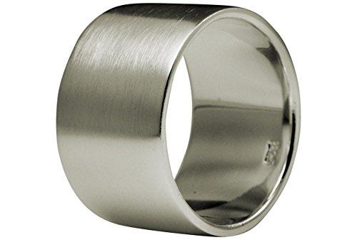 SILBERMOOS XL XXL Ringe in großen Größen Damen und Herren Bandring Partnerring klassisch 925 Sterling Silber Größe 62, 64, 66, 68, 70, 72, 74, Größe:70 (22.3) (Silber 925 Herren Ehering)