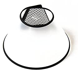 Toogoo(r)elizabethan Dog Cat Pet Wound Healing Cone E- Collar White With Black