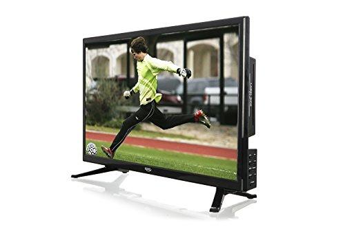 fernseher mit integriertem dvd Xoro HTC 2446 60 cm (23,6 Zoll) LED Fernseher mit DVD-Player (HD-Ready, Triple Tuner DVB-S2/T2/C H.265/HEVC-Decoder, PVR Ready + Timeshift, USB 2.0 Mediaplayer, CI+ Schacht, 12V) [Energieklasse A] schwarz