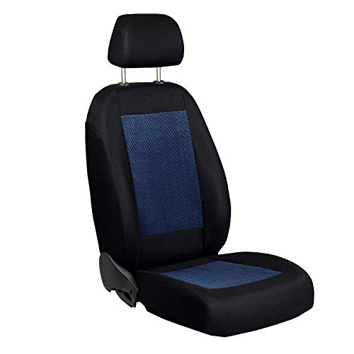 Zakschneider Matrix Fahrer Sitzbezug - Farbe Premium Schwarz-blau - Matrix Auto Sitzbezüge Toyota