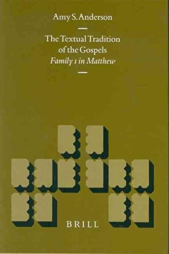 Portada del libro [(The Textual Tradition of the Gospels : Family 1 in Matthew)] [By (author) Amy S. Anderson ] published on (December, 2003)