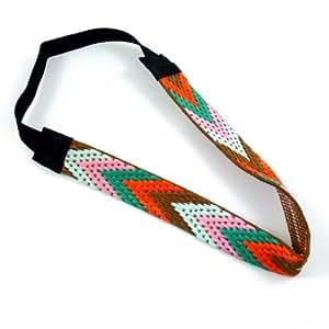 rougecaramel - Headband bandeau brésilien - orange/vert
