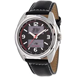 LIP Croix Du Sud Men's Solar Watch 1848812 With Black Leather Strap