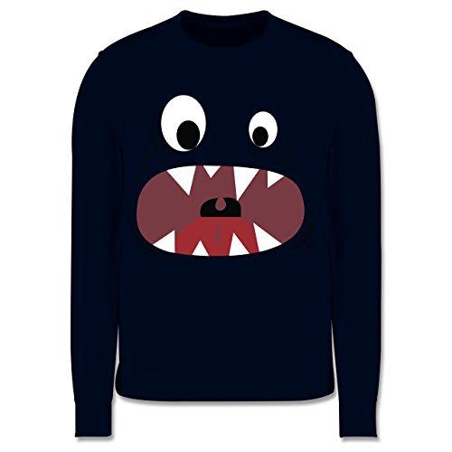& Fasching Kinder - Monster Kostüm Gesicht - 5-6 Jahre (116) - Navy Blau - JH030K - Kinder Pullover ()