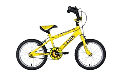 Sonic Nitro Junior Boys BMX Bike - Bright Yellow, 16 Inch