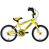 Sonic Nitro Junior Boys BMX Bike - Bright Yellow, 16 Inch