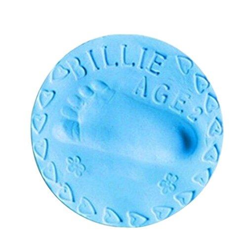 Tefamore Baby Handabdruck Fußabdruck Lufttrocknung Soft Clay, Kinderhände oder Fuß Abdruck Gips Abdrucksets Impressum Casting Babygeschenke 20g (Blau)