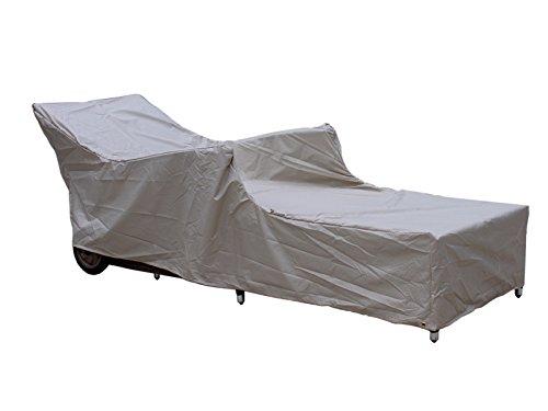 Premium Schutzhülle Gartenliege Liegestuhl Sonnenliege Relaxliege Grau