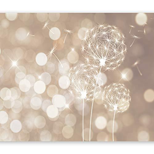 murando - Fototapete 400x280 cm - Vlies Tapete - Moderne Wanddeko - Design Tapete - Wandtapete - Wand Dekoration - Pusteblume Blumen bokeh Abstrakt beige weiß f-C-0040-a-d