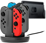 Snakebyte NSW Joycon's Four Charger-Charging Station for Use with Nintendo Sw