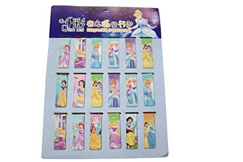 Catz® 2x Neuheit Prinzessin Cinderella, Schneewittchen, Dornröschen, Ariel Meerjungfrau Magnetisches Lesezeichen Page Marker