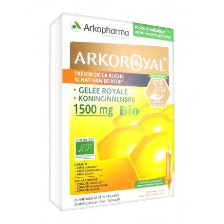 Arkopharma Arkofluides Jambes Arko Royal Gelée Royale 1500mg Bio 20Lampen