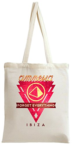 Amnesia - Forget Everything In Ibiza Red Logo Tote Bag