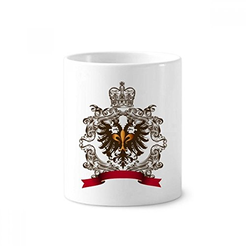 Doppeladler Emblem Europa Keramik Zahnbürste Stifthalter Becher weiß Tasse 350ml Geschenk