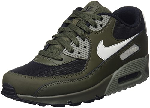 Nike Herren Air Max 90 Essential Sneaker, Mehrfarbig (Cargo Khaki/Light Bone/Dark Stucco/Black 537384-309), 43 EU (Nike Air Max Für Männer)