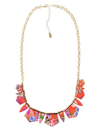 Desigual Damen-Halskette Global Traveller Versilbert-73G9EE33074U