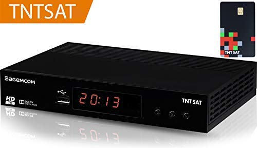 TNTSAT Decoder TNT Satellite Receiver - + TNTSAT Karte - HD Astra (19,2 °) / USB / HDMI / MPEG4 / Full HD / 1080p Hochauflösende Satelliten-fotos