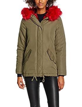 New Look Red Fur Parka, Abrigo para Mujer