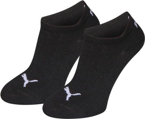 Puma Unisex - Kinder Socken Invisible 2er Pack, black, 31/34, 271325