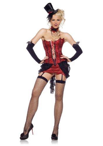 Leg Avenue Lady Vampier Kostüm 4-teilig, 1 Stück, (Hat Red Lady Kostüm)