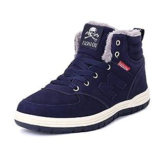 RDJM baskets de mode des hommes d'hiver plus des bottes de cheville chaudes de cachemire chaussures de randonnée chaussures de skate , deep blue , 46