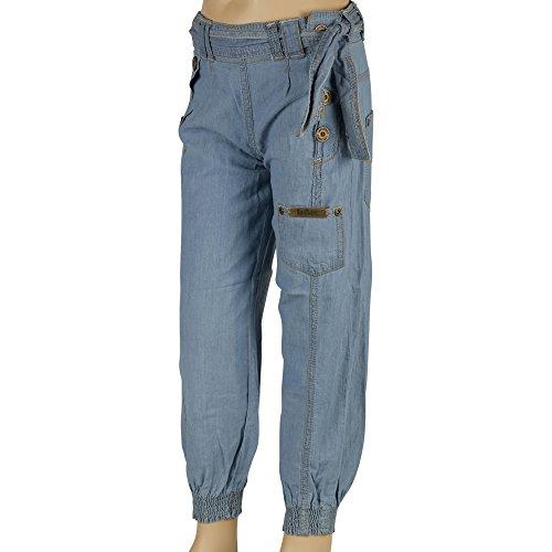 Lee Cooper Designer ragazze denim jeans casual pantaloni con risvolto alla caviglia Mid Blue 9/10 (Ragazzi Jean Shorts)
