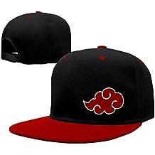 Hittings Music Naruto Akatsuki Clouds Unisex Adjustable Baseball Snapback Hip Hop Cap Hat Red Red