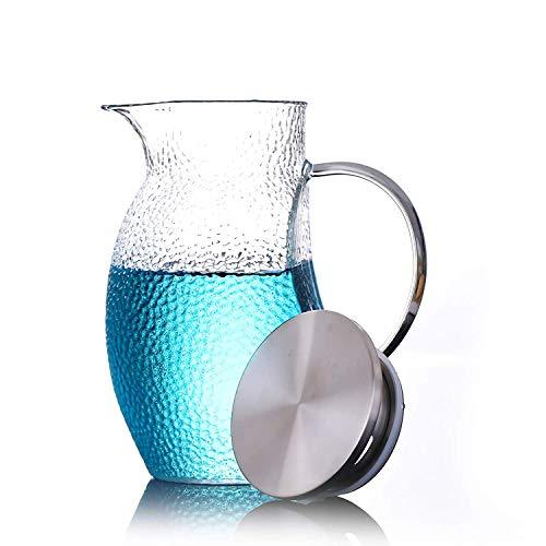 Amayay Glas Teekanne Kaltwasserkocher Wasserflasche Chinesische Japanische Kungfu Premium Verdicken Haushalt Einfacher Stil Hohe Hohe Glaskanne Saft Blume Teekanne (B) (Color : Colour, Size : Size)
