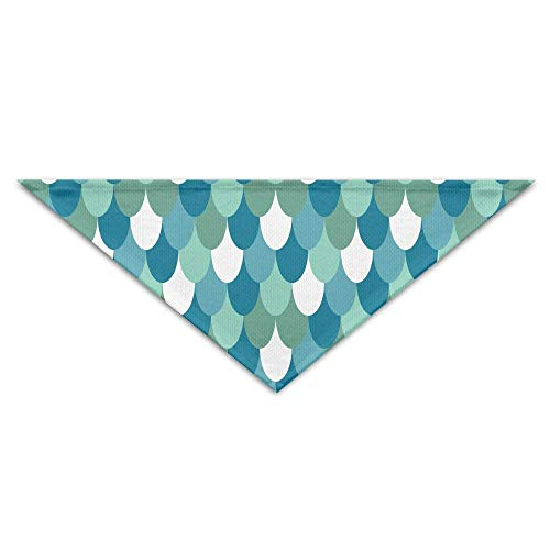 Sdltkhy Mermaid Scales Baby Pet Triangle Head Scarfs Dog Scarves Puppy Triangle